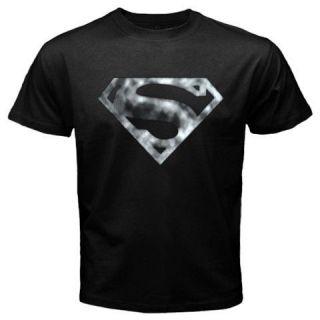 Shield Superman Logo Krypton Smallville Clark Kent Black T shirt Tee