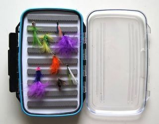 Large Fly Fishing Box Case Double Side WaterProof Foam 7.3 x 4.3 x 1