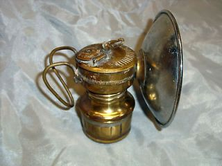 BRASS MINER MINING SAFETY LAMP LIGHT BUTTERFLY CARBIDE COAL LANTERN