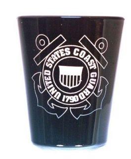 Coast Guard Shot Glass Personalized Coast Guard Logo on front, name on