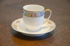 China Czechoslovakia Tea Cup & and Saucer Set Clementine Rosari