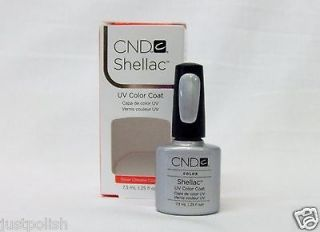 CND Creative Nail SHELLAC UV Gel Polish Silver Chrome Color .25oz/7