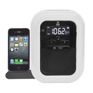 CLOCK RADIO iPOD/iPHONE DOCKING STATION W/FM RECEIVER & DUAL ALARM