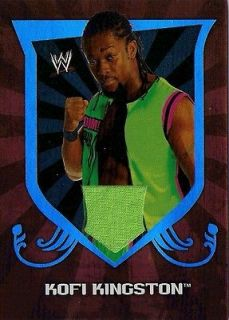 2011 Topps WWE Classics Relic Swatch Shirt KOFI KINGSTON LOT OF 2