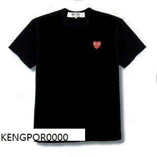 COMME Des GARCONS CDG (3) PLAY MENS T SHIRT BLACK SZ XL