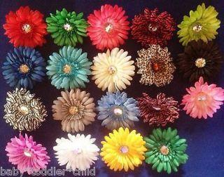 Wholesale Gerbera Flower Hair Clip Girls/Toddler/Baby Headband x12