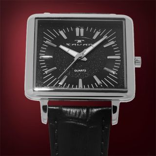 Tavan Black Thin Retro Mens Timepiece Japan Movement New