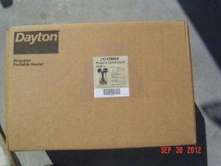 Dayton 4TM60 Propane Heater 8000 24,000 BTU