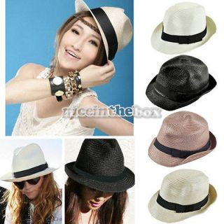 2012 Women Fashion Korean Style Straw Beach Cap Summer Hat