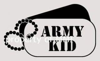 ARMY KID Dog Tags Vinyl DECAL Car Truck Window Wall Laptop Helmet