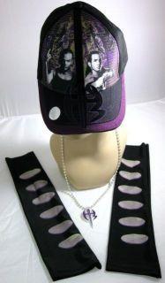 Jeff Hardy Costume Baseball Hat Armbands Purple Pendant New