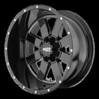 20x9 20 Moto Metal 962 Gloss BLACK Wheels Rims 295/60 295 60 Nitto