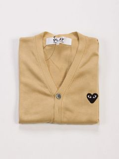 Comme des Garcons Play CDG Beige Cardigan Black Heart For Men
