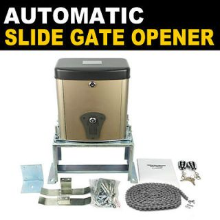 Gearsmith Automatic Slide Gate Opener Operator Kit w/Remote Control