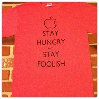 STEVE JOBS MANTRA T Shirt S XL STAY CALM PARODY apple mac itunes