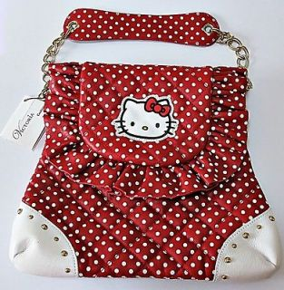 Victoria Couture Hello Kitty Red Color Shopping Bag 100% Leather RARE
