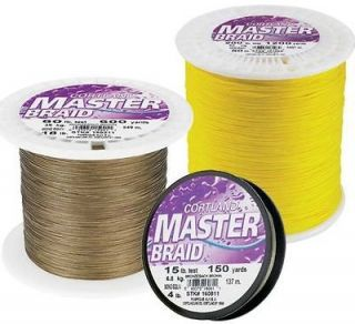 Cortland Masterbraid SPECTRA Braid Fishing Line 1200 yds Yellow 100 lb