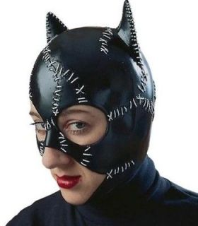 CATWOMAN Costume Adult Deluxe Latex Mask Cat Woman Rubies 12442