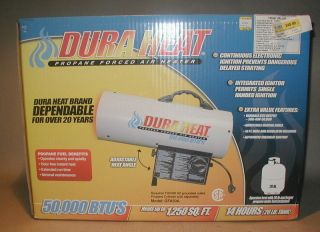 DURA HEAT 50,000 BTU PROPANE FORCED AIR HEATER NEW IN THE BOX
