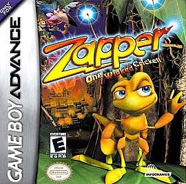 Zapper One Wicked Cricket Nintendo Game Boy Advance, 2002