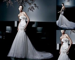 STUNNING Enzoani COURTNEY Fit to Flare Wedding Bridal Dress Gown 8 $