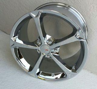 Chrome Corvette Grand Sport Style Wheels for C6 18/19