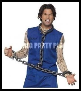 PRISONER CONVICT STAG PARTY COSTUME ACCESSORY NECK & HAND SHACKLES