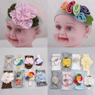 New Baby Girl Elastic Band With Flower Headband Hair Band Free