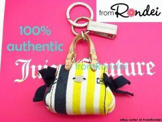 Juicy Couture color block stripe Mini daydreamer charm purse Keychain