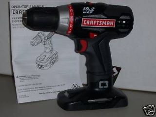 C3 Craftsman 1/2 Lithium 11910 LED Drill Driver use 19.2 volt 11375