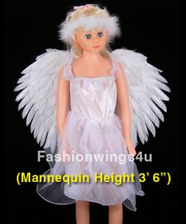 costume feather angel wings pointing up or down White Swan Lake props