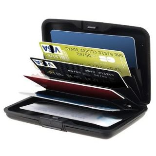 Black Aluminum Pocket Waterproof Business ID Credit Card Wallet Holder
