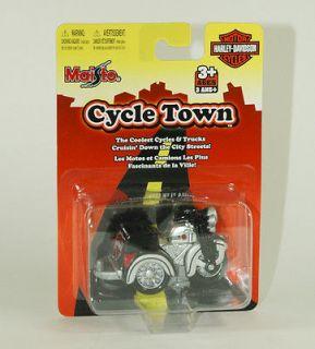 2007 Maisto HARLEY DAVIDSON CYCLE TOWN Silver w/Black Trike Motorcyle