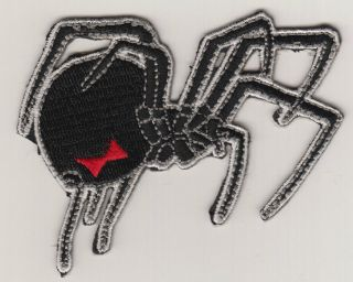 Black Widow Spider Iron On Patch Hat Jacket Vest Motorcycle Club Red