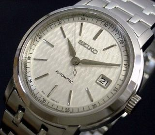 SEIKO MEN AUTOMATIC SAPPHIRE CRYSTAL STEEL WATCH SRP021, SRP021K1