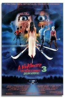 Nightmare on Elm Street 3 Poster 24x35 Freddy Krueger Dream