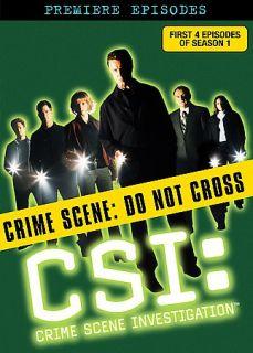 CSI Crime Scene Investigation   The Premiere Episodes DVD, 2006