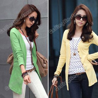 Womens Ladies Long Sleeve Casual Knitwear Casual Shirt Coat Blouse