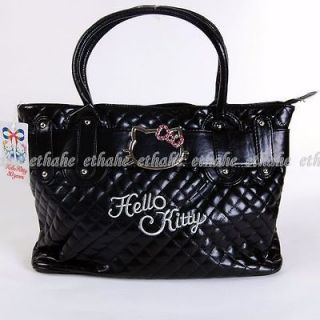 Hello Kitty Cute Shopping Tote Leather like Hand Shoulder Bag Handbag