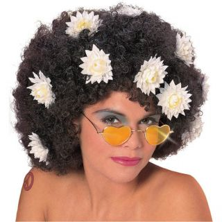 afro 60 s hippie flower daisy costume wig one day