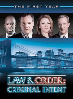 Law Order Criminal Intent   The First Year DVD, 2003, 6 Disc Set