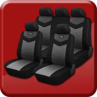 Synthetic Leather Semi   Custom Car Seat Covers 40 60 full split Onyx