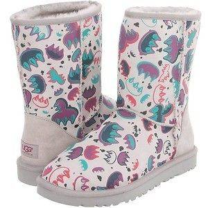 NEW $140 KIDS UGG CLASSIC SHORT BOOTS GRAFFITI LITTLE BIG KIDS FREE