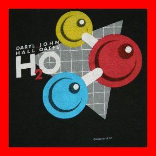 VTG DARYL HALL + JOHN OATES 1983 H2O TOUR T SHIRT CONCERT LARGE and