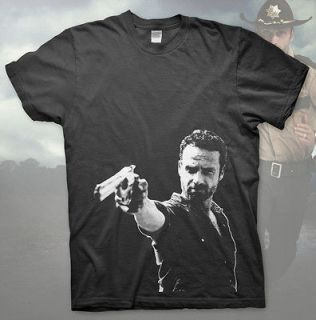RICK GRIMES   High Quality T Shirt THE WALKING DEAD Zombie AMC Comic