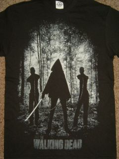 The Walking Dead Tv Show Michonne With Walkers Zombies T Shirt