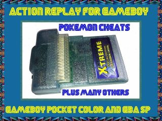 NEW Game Boy GBC Color Action Replay Cheat Cart Pokemon Crystal Ltd