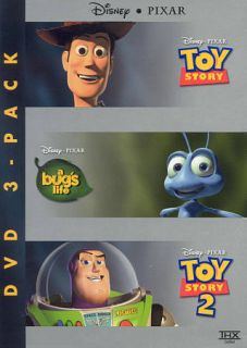 Pixar 15th Anniversary 3 Pack A Bugs Life Toy Story Toy Story 2 DVD