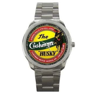 Cushman Husky Scooter Engine Motorcycle Logo Watch