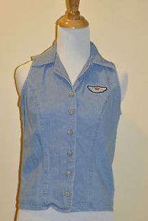 Harley Davidson Womens Denim Shirt / Harley Clothing / Womens Jean